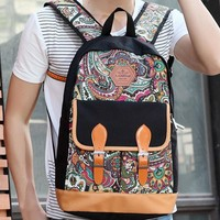 Womens Mens Ethnic School Backpack Travel Bag Bookbag Daypack -Gift