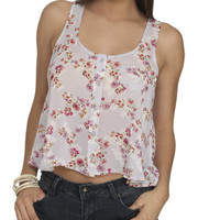 Floral Chiffon High-Low Tank | Shop Sale at Wet Seal