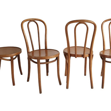 Bentwood Cafe Chairs, S/4