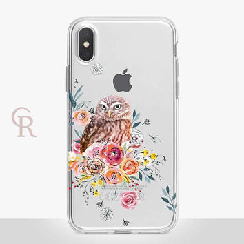 Owl Clear Phone Case - Clear Case - For iPhone 8 - iPhone X - iPhone 7 Plus - iPhone 6 - iPhone 6S - iPhone SE Transparent - Samsung S8 Plus