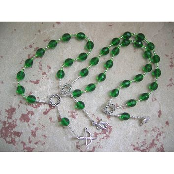 Artemis Prayer Beads: Greek Goddess of  the Wild, Protector of Young Women