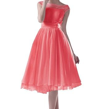 US Women's Short Bridesmaid Evening Party Cocktail Gowns Dress For Girls