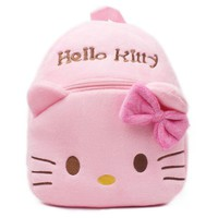 Cute Hello Kitty Plush Cartoon Backpack For Baby Girl Character Toy School Bag For Kids Gift PT1012