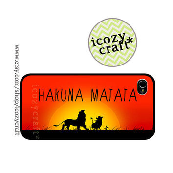 iPhone 5 case  iphone 4s cover iphone 4 Case hakuna by icozycraft