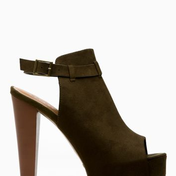 Olive Faux Suede Peep Toe Chunky Platform Heels @ Cicihot Heel Shoes online store sales:Stiletto Heel Shoes,High Heel Pumps,Womens High Heel Shoes,Prom Shoes,Summer Shoes,Spring Shoes,Spool Heel,Womens Dress Shoes