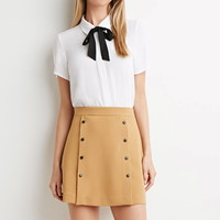 Snap-Button Skirt