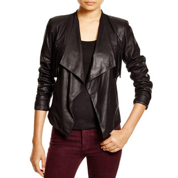 Dylan Gray Womens Leather Fringe Jacket