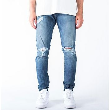 "Tailored ""1880"" Skinny Denim Jeans in Blue"