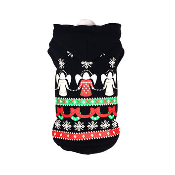 Pet Life LED Lighting Patterned Holiday Hooded Sweater Pet Costume: Medium