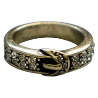 Gold Buckle Ring Size 7 Only