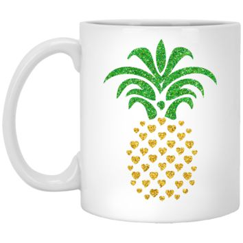 Pineapple Coffee Mug by Living You Co. | White Pineapple Mug, Pineapple Coffee Cup, Pineapple Cup