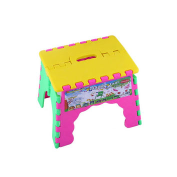 Portable Outdoor sports Child Kids Folding Camping Picnic Step Stool Plastic Foldable Chair Gift for Kid
