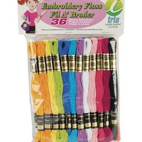 Janlynn Cotton Embroidery Floss Pack 8.7 Yards 36/Pkg-Pastel Colors at Joann.com