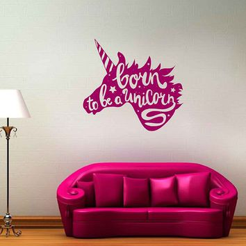 unicorn quote wall decal Unicorn Wall Sticker Vinyl Decal unicorn Decal ik3482