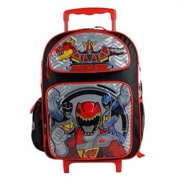 "2017 Power Rangers Dino Charge Boys 16"" School Large Rolling Backpack"