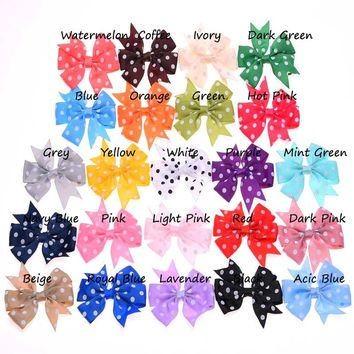 10pcs Dot Ribbon Bowknot butterfly knot hair accessory forked tail bows   headwear for apparel shoe accessories