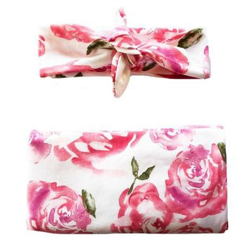 HEADBANDS OF HOPE ROSE SWADDLE SET
