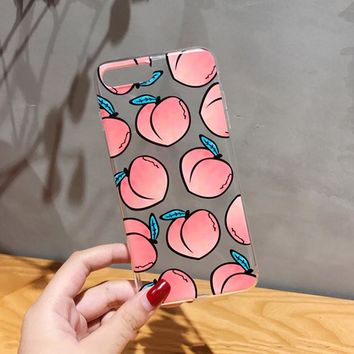Juicy Peach Phone Case - For iPhone 5, 5S, 6, 6Plus, 7, Plus, 8, 8 Plus,
