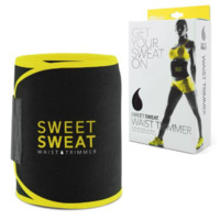 Sweet Sweat Premium Waist Trimmer for Men & Women. Includes Free Sample of Sweet Sweat Workout Enhancer!
