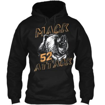Mack Attack Bear Beast Chicago Welcome New Player 52 Pullover Hoodie 8 oz
