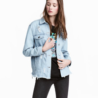 Trashed Denim Jacket - from H&M