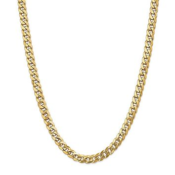 Leslies 14k 8mm Flat Beveled Curb Chain