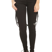 Royal Bones Punk Straps Skinny Pants