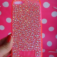 NIP Victoria's Secret Pink Hard Iphone Case 5 Jeweled