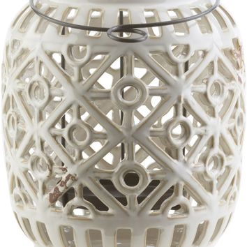 Killian Contemporary Lantern Ivory, Gray