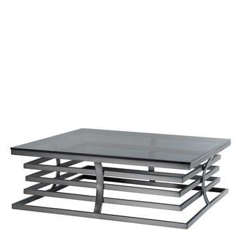 Square Bronze Framed Coffee Table   Eichholtz Barolo