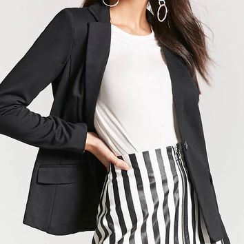 Faux Leather Stripe Skirt