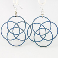 Circles of Life  Laser Cut Wood Earrings by GreenTreeJewelry
