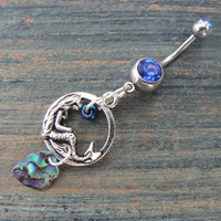 mermaid abalone belly ring
