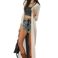 Papaya Clothing Online :: KNIT TRIMMING LONG CARDIGAN