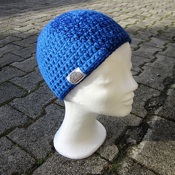 Blue winter beanie,Boys beanie,Men beanie,Blue hat women,Hat unisex,Beanie with pattern,Kids beanie blue,Beanie hat crochet,Blue hat crochet