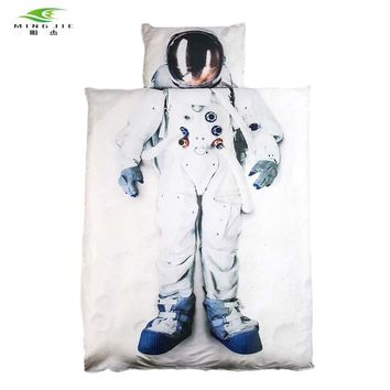 New Brand 3D Bedding set Astronaut Captain America princess Bed duvet cover Twin/Full/Queen Size 2pcs/3pcs For Girls Boys gift
