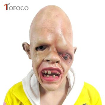 Horror Latex One Eye Zombie Face Halloween Mask Fancy Party Costume Scary Dress Props Toys For Adult Kids
