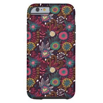 Modern Flower Pattern Tough iPhone 6 Case