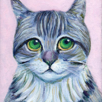"""instant download~cat painting """"I Have Been A Good Boy Today"""" avatar wall art decor kid room nursery (55)"""
