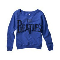 Product: License Juniors The Beatles Long Sleeve Graphic Tee - Blue