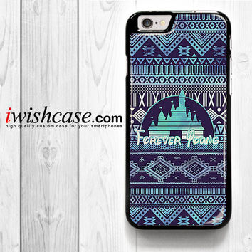 Forever Young Disney Aztec Pattern for iPhone 4 4S 5 5S 5C 6 6 Plus , iPod Touch 4 5  , Samsung Galaxy S3 S4 S5 S6 S6 Edge Note 3 Note 4 , and HTC One X M7 M8 Case