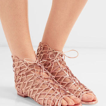 Sophia Webster - Delphine metallic leather sandals