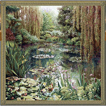 Monet Vertical Large Tapestry Wall Art Hanging