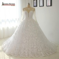 Wedding Gowns Luxury Full Lace Wedding Dress Sexy backless