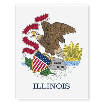Patriotic temporary tattoos Flag of Illinois