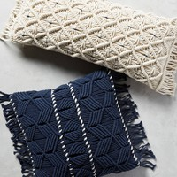 Fringed Diendra Pillow
