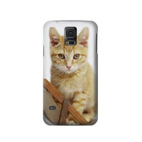 P0243 Kitty Cat Phone Case For Samsung Galaxy S5