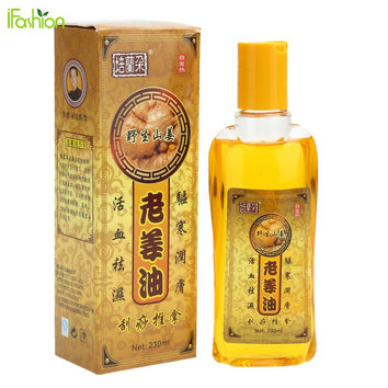 230ML Pure Ginger Oil Natural Herbal Massage Essential Oil for SPA Full Body Relaxation Scrape Massage Therapy