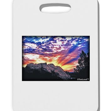 Colorado Rainbow Sunset Thick Plastic Luggage Tag