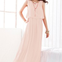 Female-chic Chiffon Long Dress - OASAP.com